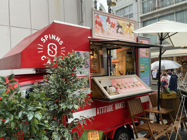SPINS CAFÉ NAGOYA(スピンズカフェ名古屋),キッチンカー,フードトラック,手配,出店,イベント,大須,いちご飴,ベビーカステラ,SNS映え,愛知,関西移動販売車組合